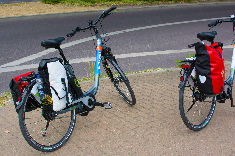 Die Bikes bepackt