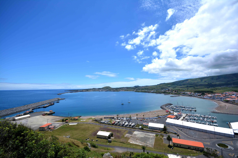 hafen in Terceira